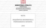 Inquéritos Referentes a Pornografia Infantil – 2018